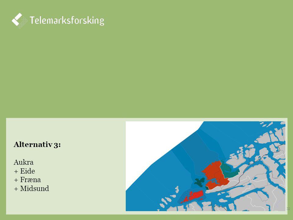Alternativ 3: Aukra + Eide + Fræna + Midsund 32