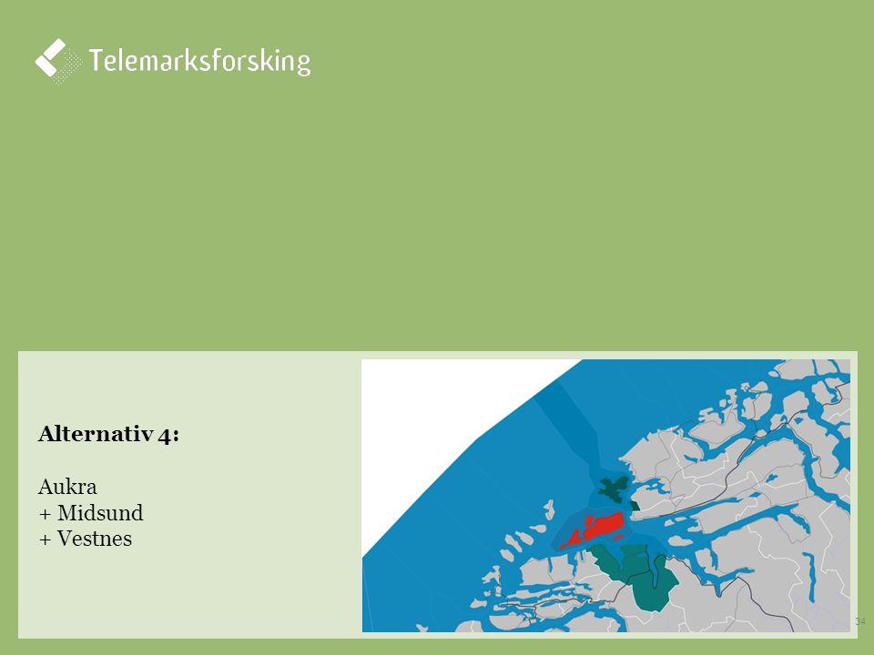 Alternativ 4: Aukra + Midsund + Vestnes 34
