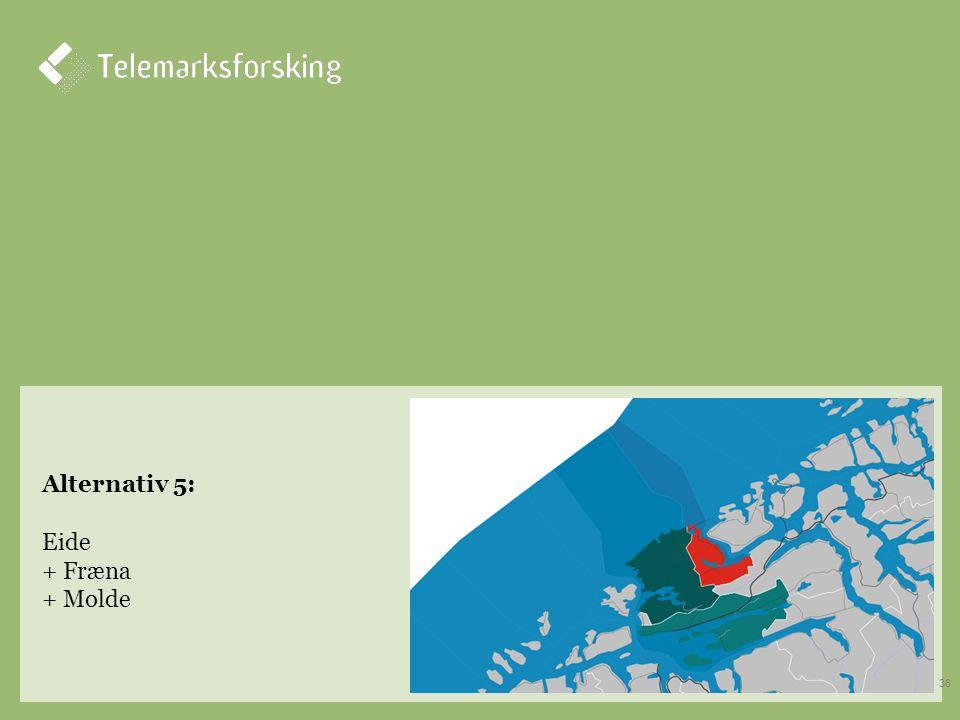 Alternativ 5: Eide + Fræna + Molde 36