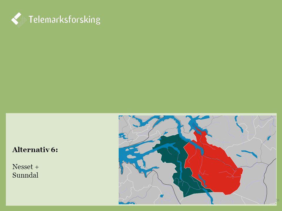 Alternativ 6: Nesset + Sunndal 38