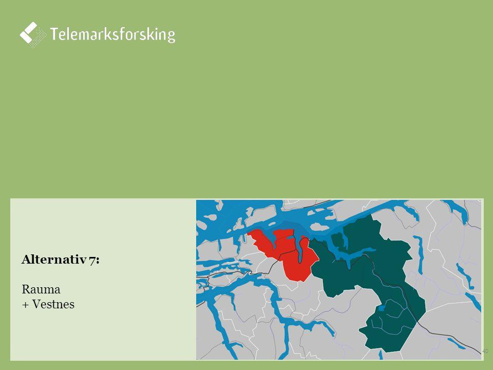 Alternativ 7: Rauma + Vestnes 40