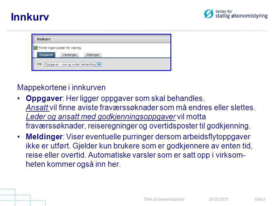 Tittel på presentasjonenSide 2026.03.2015 Fraværssøknad Når du har klikket på Kontroller kommer du over i et nytt bilde.