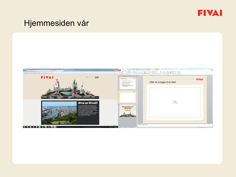 Hjemmesiden vår