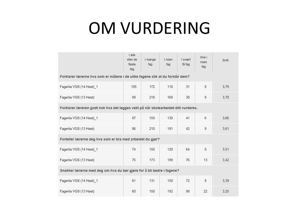 OM VURDERING