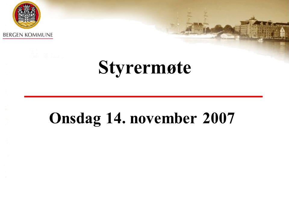 Styrermøte Onsdag 14. november 2007