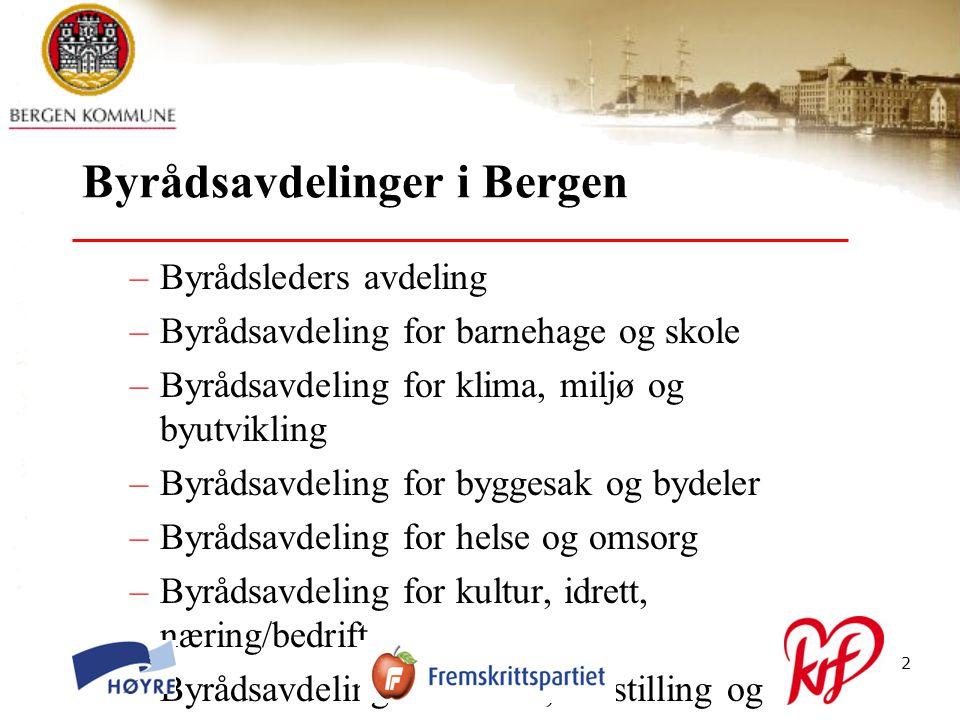 © Bergen kommune13 Justeringer i organisasjonen: Fagavdeling barnehage – skole: Fortsatt to seksjoner på fagavdelingen.
