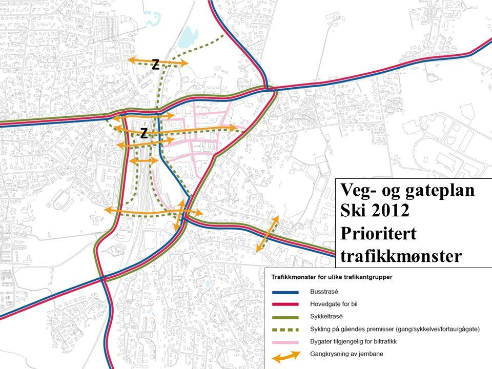 Veg- og gateplan Ski 2012 Prioritert trafikkmønster Z Z