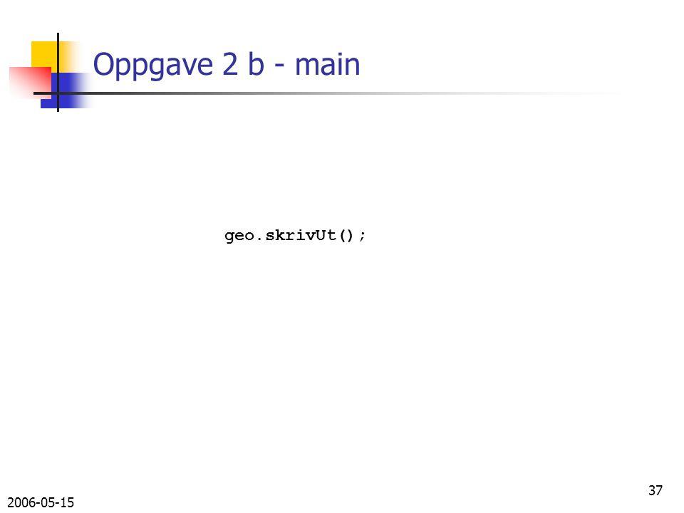 2006-05-15 37 Oppgave 2 b - main geo.skrivUt();