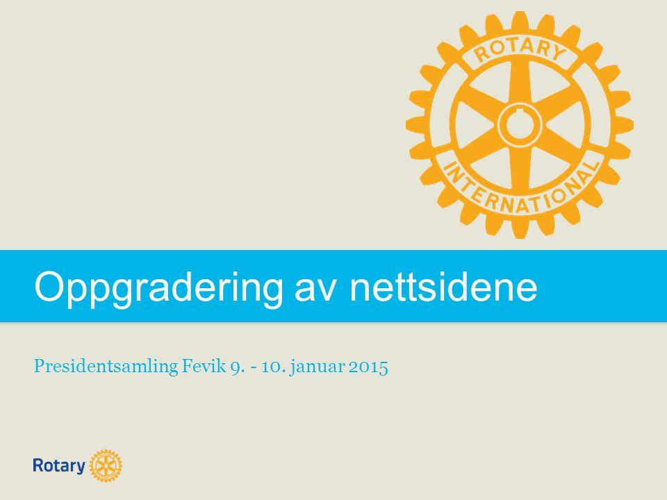 Oppgradering av nettsidene Presidentsamling Fevik 9. - 10. januar 2015