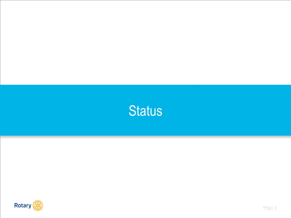 TITLE | 2 Status