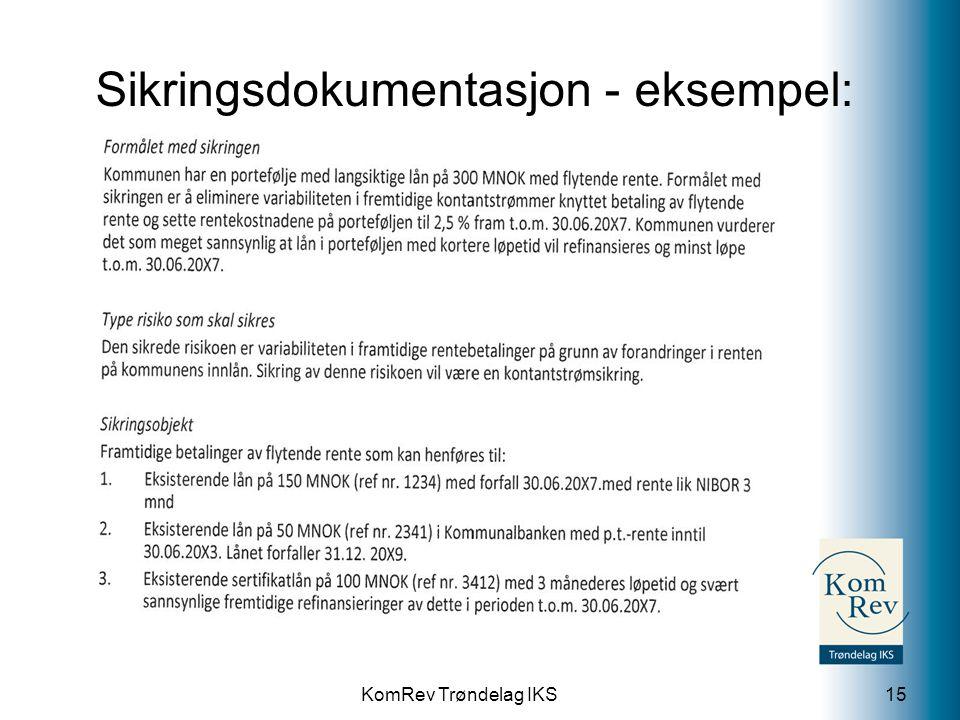 KomRev Trøndelag IKS Sikringsdokumentasjon - eksempel: 15