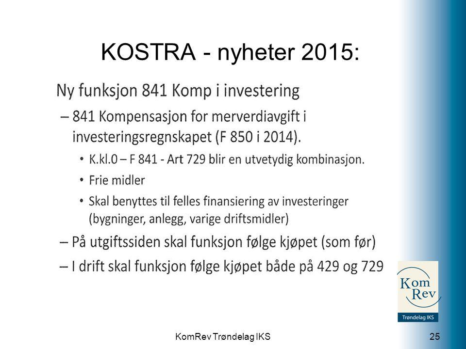 KomRev Trøndelag IKS KOSTRA - nyheter 2015: 25