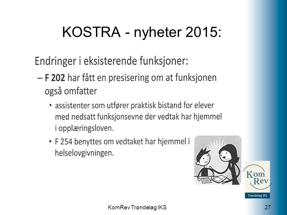 KomRev Trøndelag IKS KOSTRA - nyheter 2015: 27