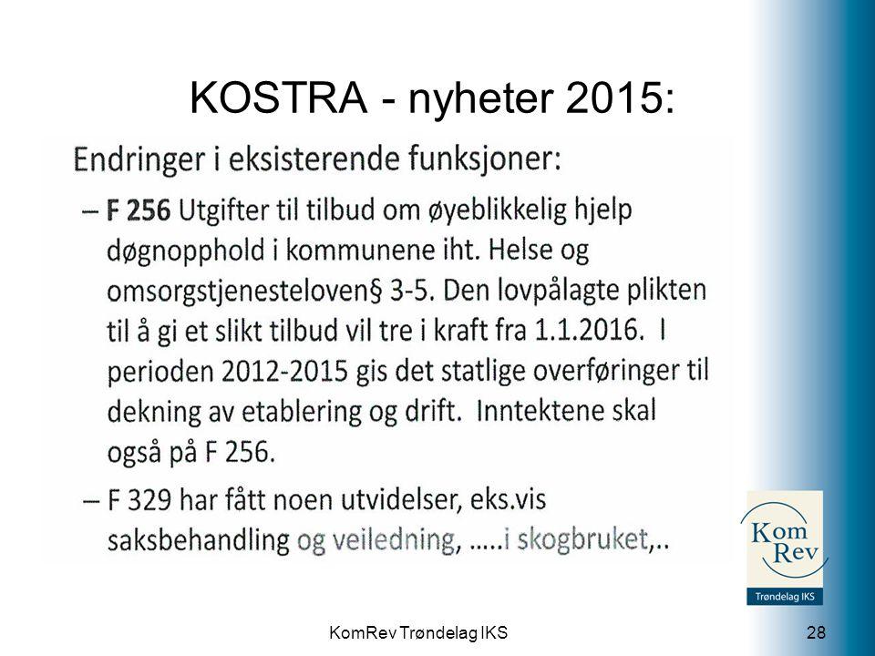 KomRev Trøndelag IKS KOSTRA - nyheter 2015: 28