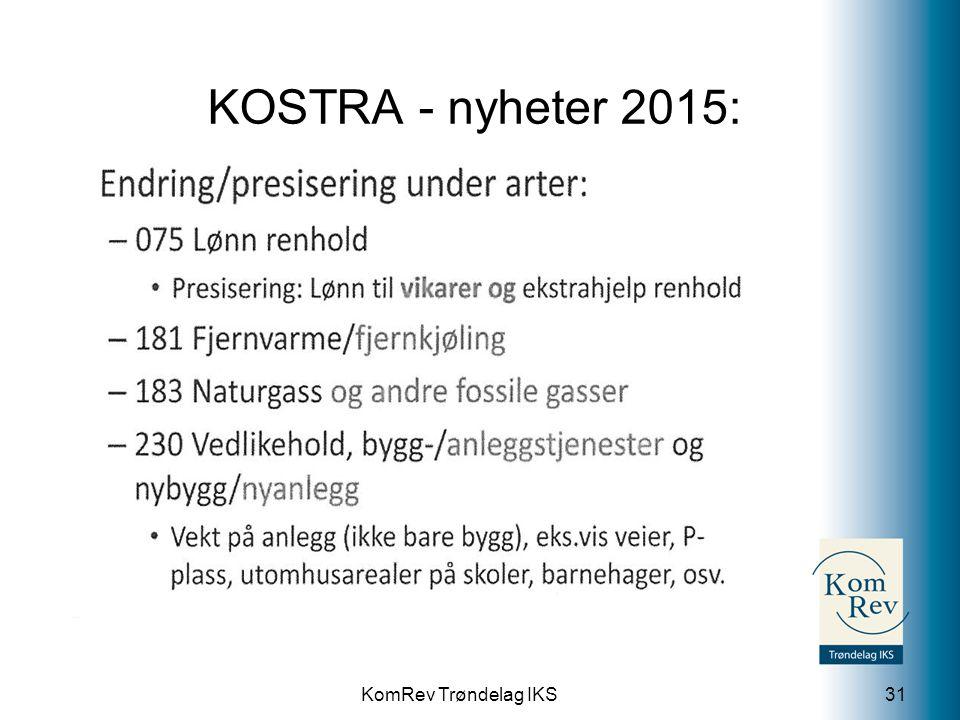 KomRev Trøndelag IKS KOSTRA - nyheter 2015: 31