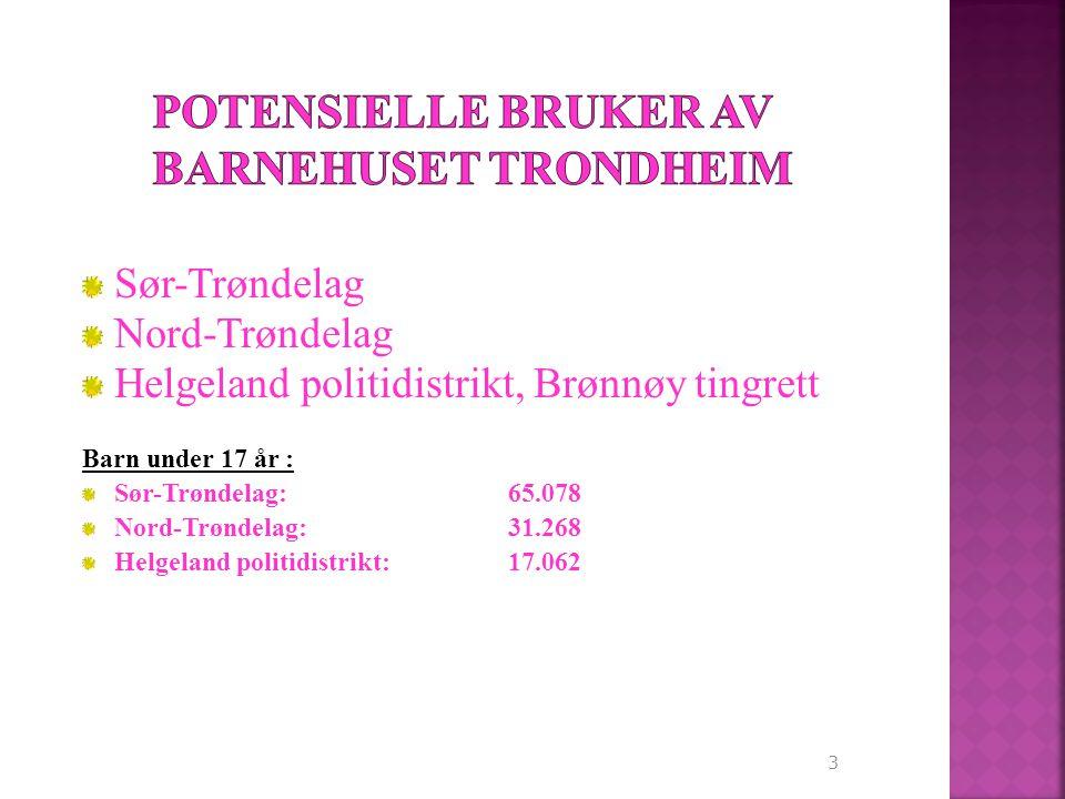 3 Sør-Trøndelag Nord-Trøndelag Helgeland politidistrikt, Brønnøy tingrett Barn under 17 år : Sør-Trøndelag: 65.078 Nord-Trøndelag:31.268 Helgeland politidistrikt:17.062