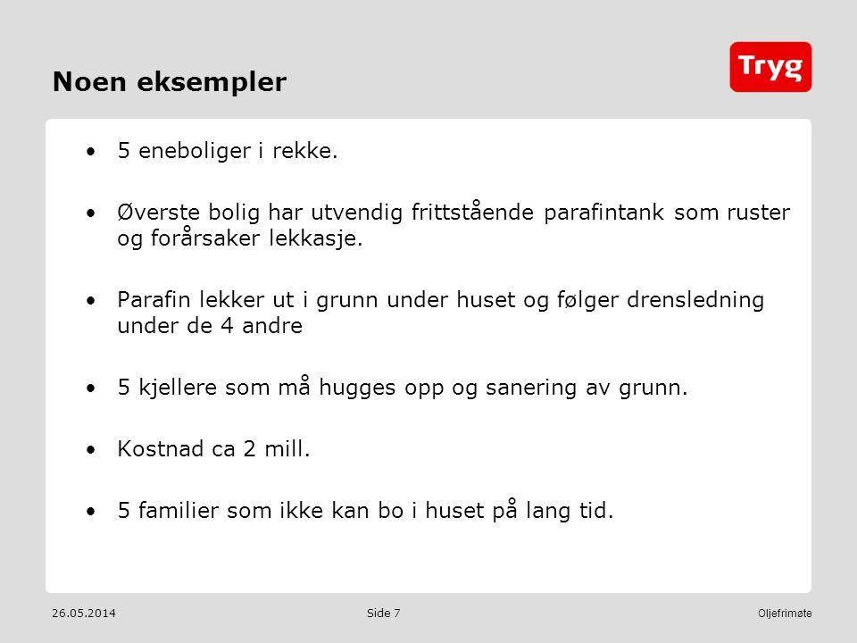 26.05.2014 Oljefrimøte Side 7 Noen eksempler 5 eneboliger i rekke.