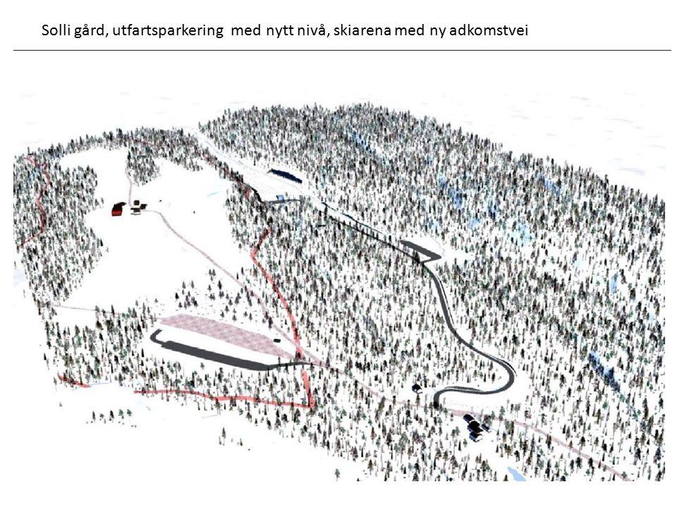 Solli gård, utfartsparkering med nytt nivå, skiarena med ny adkomstvei