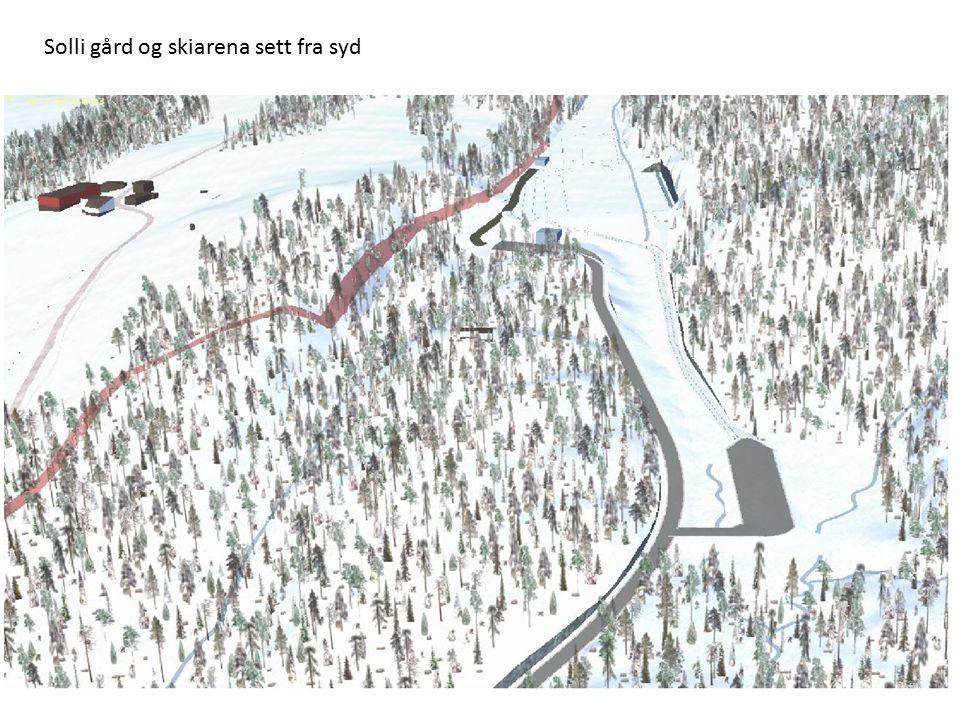 Solli gård og skiarena sett fra syd
