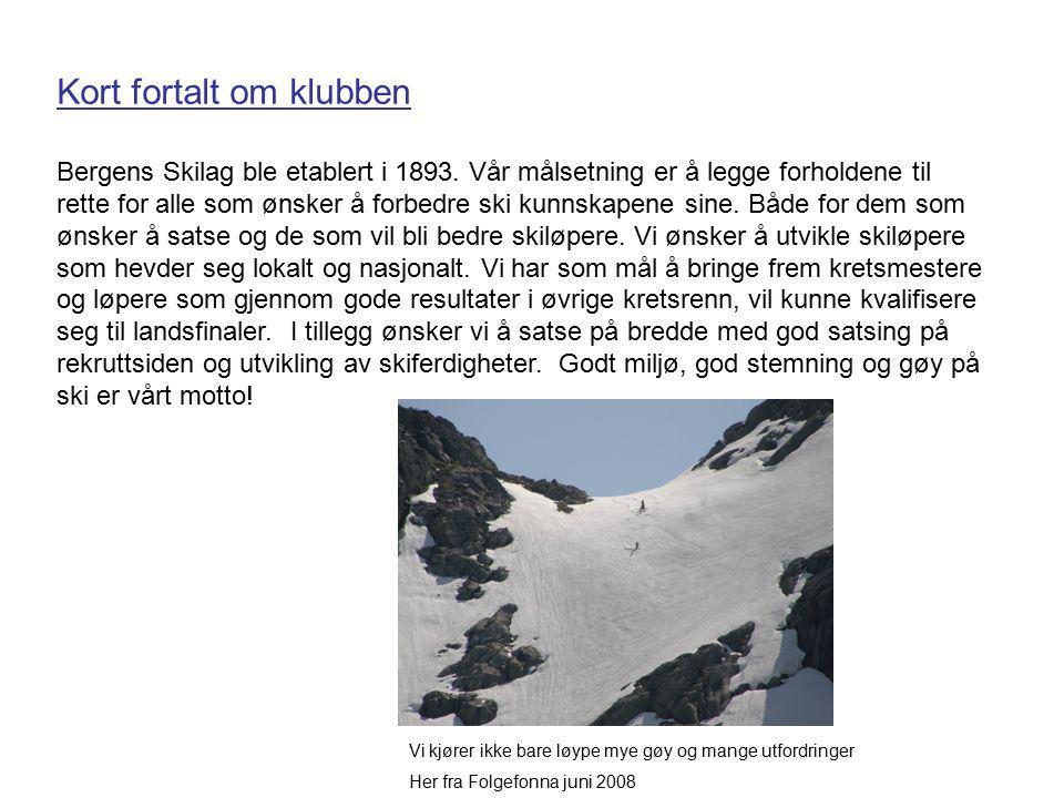 Kort fortalt om klubben Bergens Skilag ble etablert i 1893.