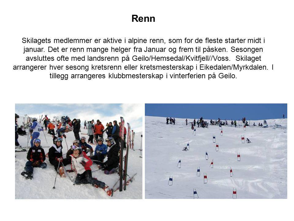 Renn Skilagets medlemmer er aktive i alpine renn, som for de fleste starter midt i januar. Det er renn mange helger fra Januar og frem til påsken. Ses