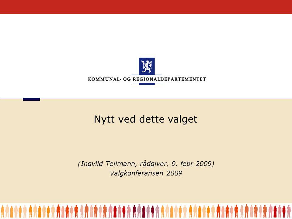 Kommunal- og regionaldepartementet 2 Lovproposisjonen lagt frem for Stortinget 30.