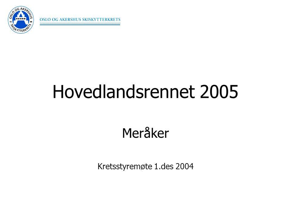 Hovedlandsrennet 2005 Meråker Kretsstyremøte 1.des 2004