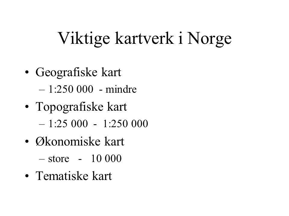 Hva slags kart har vi over Norge ?