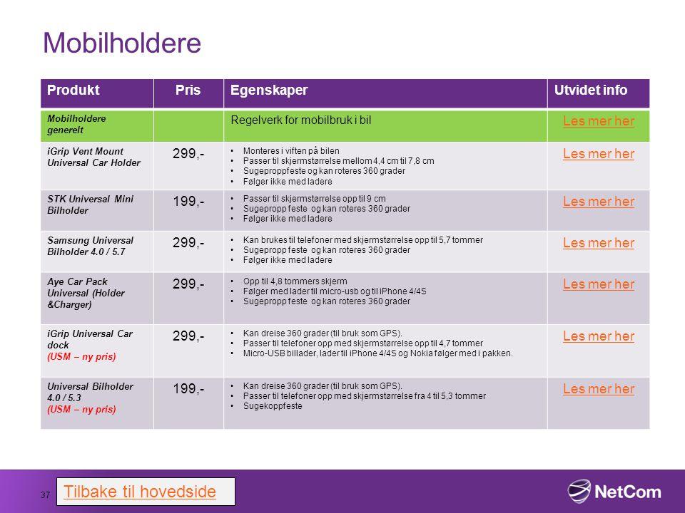 Mobilholdere 37 ProduktPrisEgenskaperUtvidet info Mobilholdere generelt Regelverk for mobilbruk i bil Les mer her iGrip Vent Mount Universal Car Holde