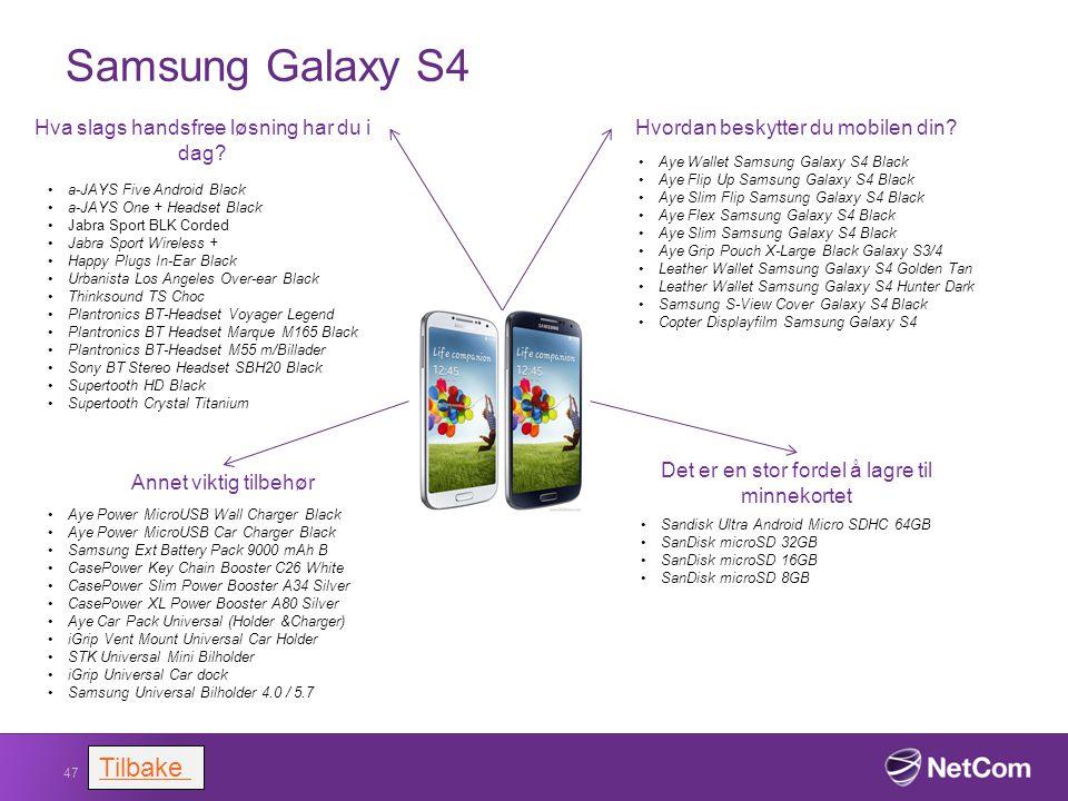Samsung Galaxy S4 47 Hvordan beskytter du mobilen din? Aye Wallet Samsung Galaxy S4 Black Aye Flip Up Samsung Galaxy S4 Black Aye Slim Flip Samsung Ga