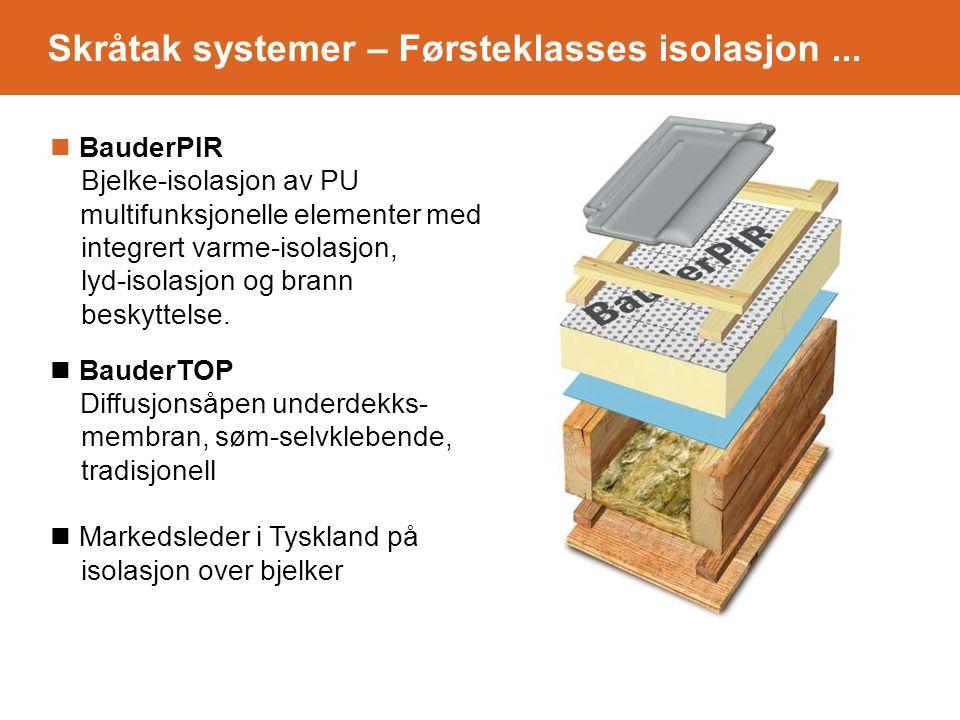 BauderPIR Bjelke-isolasjon av PU multifunksjonelle elementer med integrert varme-isolasjon, lyd-isolasjon og brann beskyttelse.
