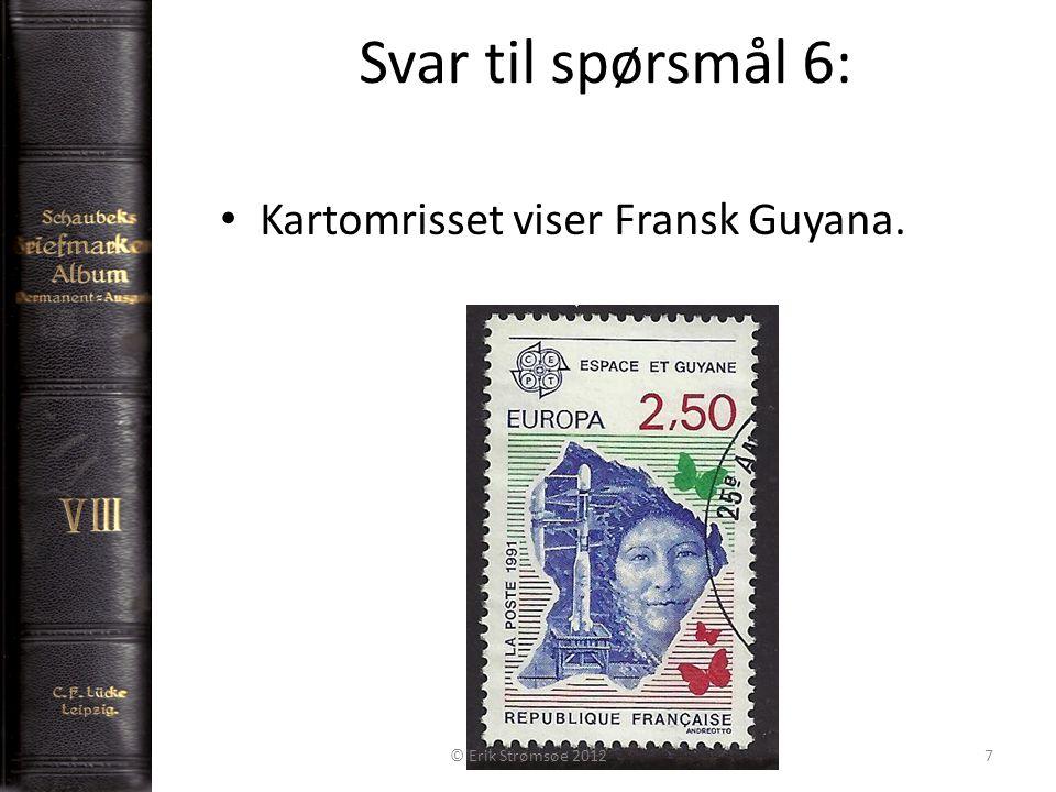 Svar til spørsmål 7: 8 Denne baksiden er lik på 3 frimerker: Nikolai Nikolai Alexander II © Erik Strømsøe 2012