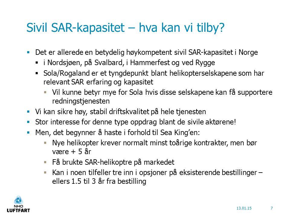 Sivil SAR-kapasitet – hva kan vi tilby.