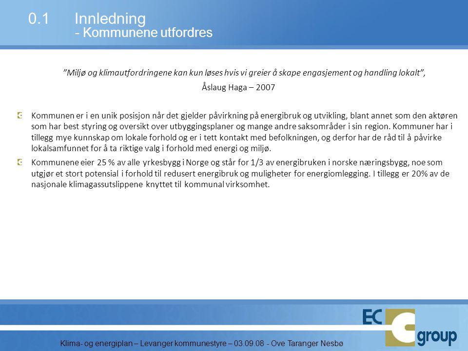 Klima- og energiplan – Levanger kommunestyre – 03.09.08 - Ove Taranger Nesbø 1.3Rammebetingelser - Sysselsetting og næring