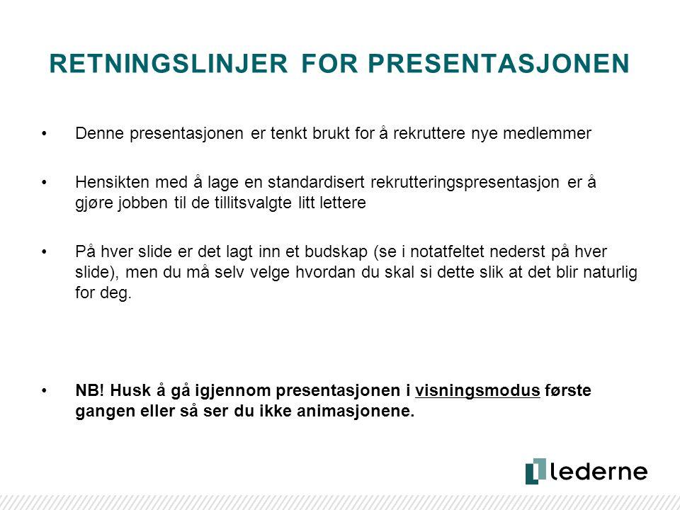 www.lederne.no [NAVN PÅ FOREDRAG] [Navn på foredragsholder] [Rolle/verv/stilling]