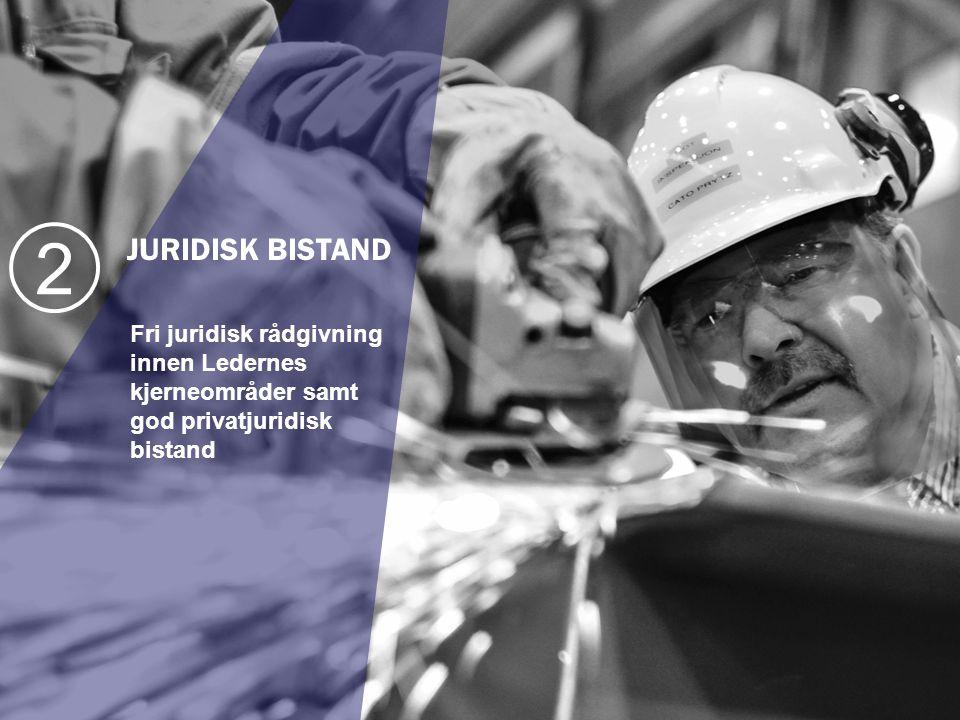 JURIDISK BISTAND Fri juridisk rådgivning innen Ledernes kjerneområder samt god privatjuridisk bistand 2
