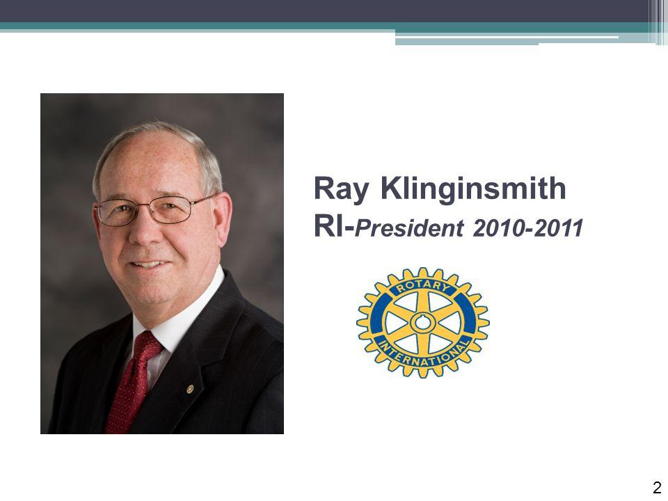 Ray Klinginsmith RI- President 2010-2011 2