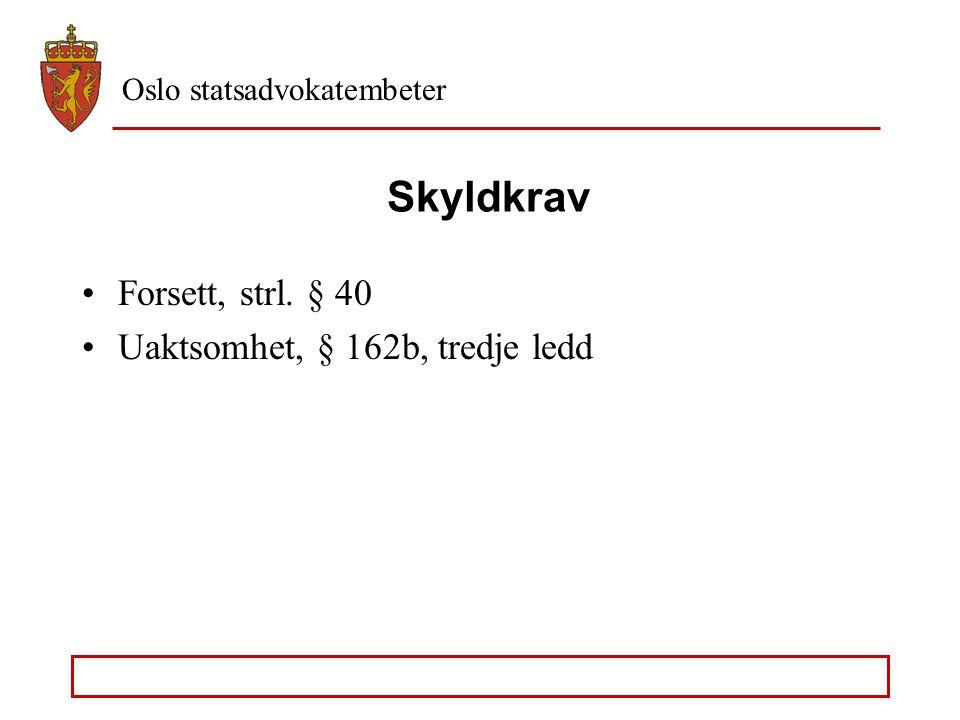 """Oslo statsadvokatembeter Dopingforbrytelsen Få avgjørelser om doping fra Høyesterett (4 – 5) Rt. 2002 s. 1184 (spørsmålet om """"eget bruk"""" må avgjøres u"""