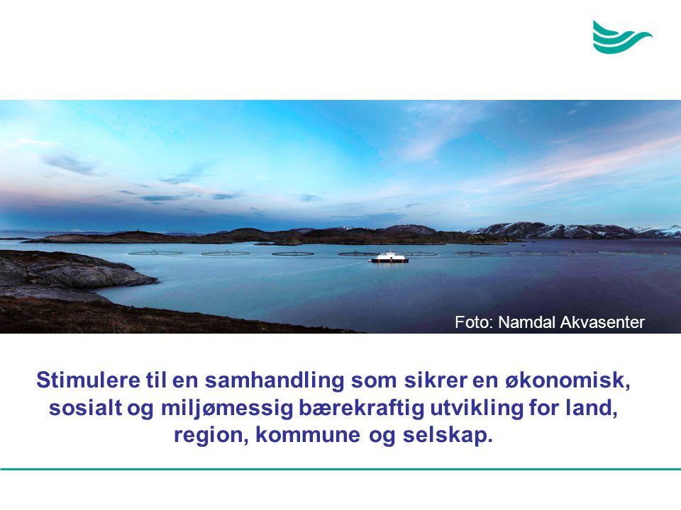 Stimulere til en samhandling som sikrer en økonomisk, sosialt og miljømessig bærekraftig utvikling for land, region, kommune og selskap. Foto: Namdal