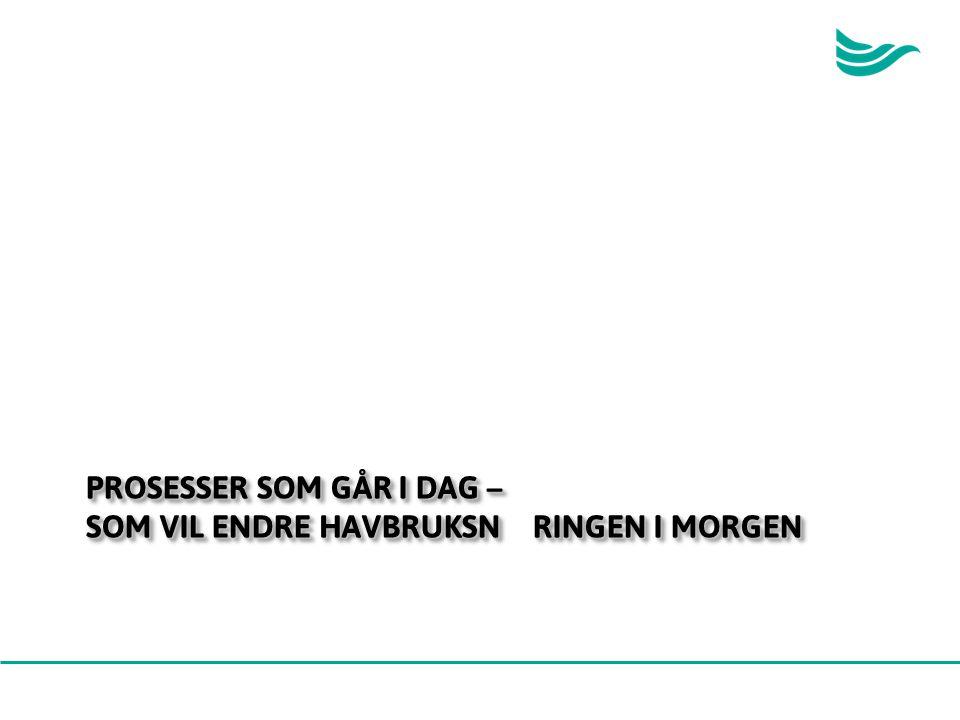 PROSESSER SOM GÅR I DAG – SOM VIL ENDRE HAVBRUKSNÆRINGEN I MORGEN