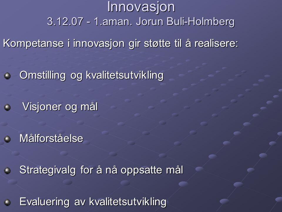 Innovasjon 3.12.07 - 1.aman.