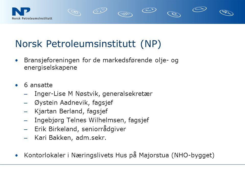 Forutsetninger Salg av drivstoff på bensinstasjonene må basere seg på europeiske standarder (fastsettes i CEN) Høyere innblandingsforhold i bensin og autodiesel forutsetter at motorteknologien gir aksept for dette.