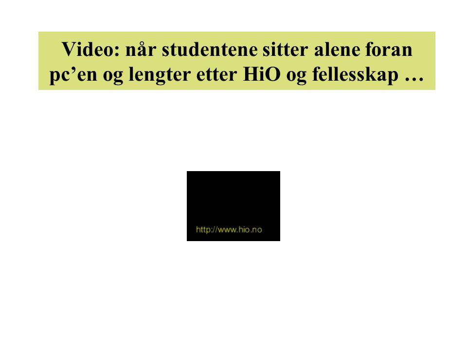Video: når studentene sitter alene foran pc'en og lengter etter HiO og fellesskap …