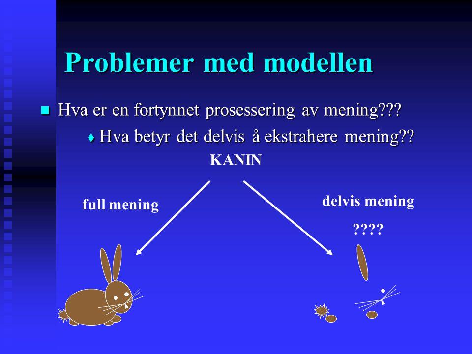 Treisman's fortynningsmodell for selektiv oppmerksomhet sensorisk buffer INPUTINPUT Attenuator Andre kanaler blir attenuert … KTH Mening ekstraheres e