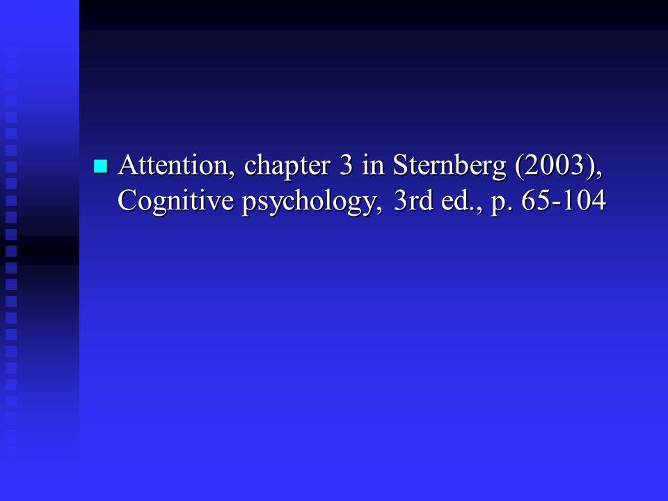 Oppmerksomhet psykofysikk – førbevisst oppmerksomhet – selektiv oppmerksomhet – kapasitetsmodellen – delt oppmerksomhet Anders M. Fjell Psykologisk In