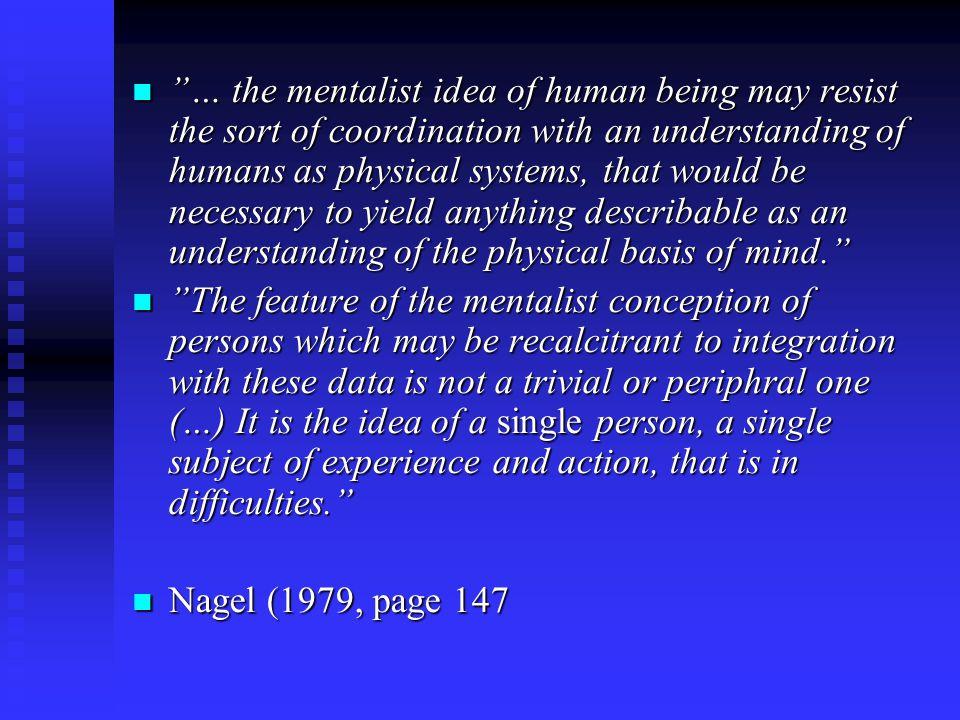 Spørsmål: Hvor mange personer er vi? Thomas Nagel (1979): Mortal questions Thomas Nagel (1979): Mortal questions - En kommentar til Sperrys eksperimen