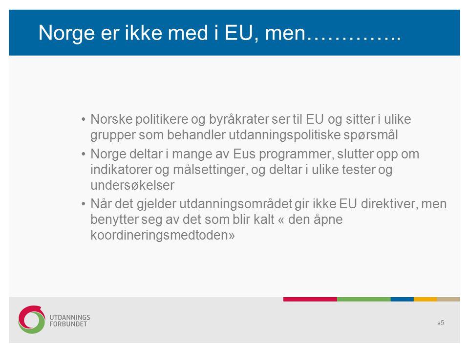 Norge er ikke med i EU, men…………..