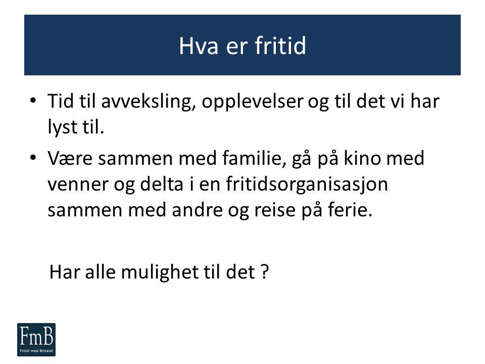 Fritid med Bistand En metode for å støtte sosial inkludering Av Anders Midtsundstad Fagbokforlaget 2013 Les mer: www.fritidmedbistand.no Mer informasjon