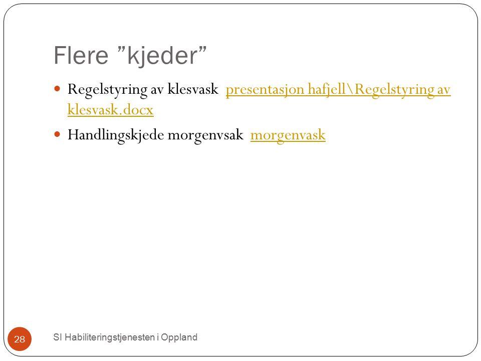 """Flere """"kjeder"""" SI Habiliteringstjenesten i Oppland 28 Regelstyring av klesvask presentasjon hafjell\Regelstyring av klesvask.docxpresentasjon hafjell\"""