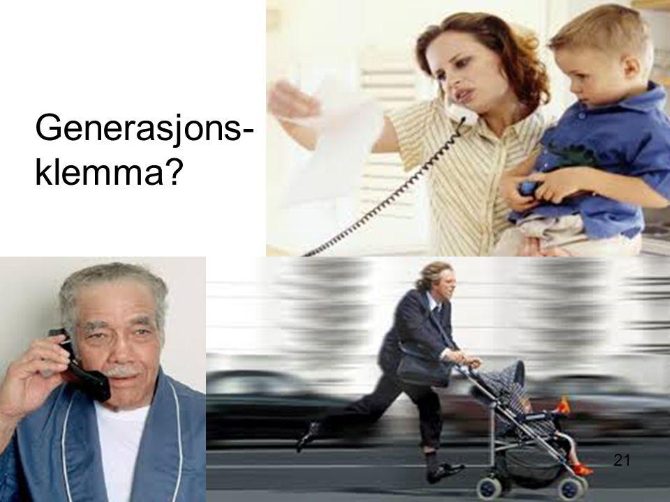 Generasjons- klemma? 21